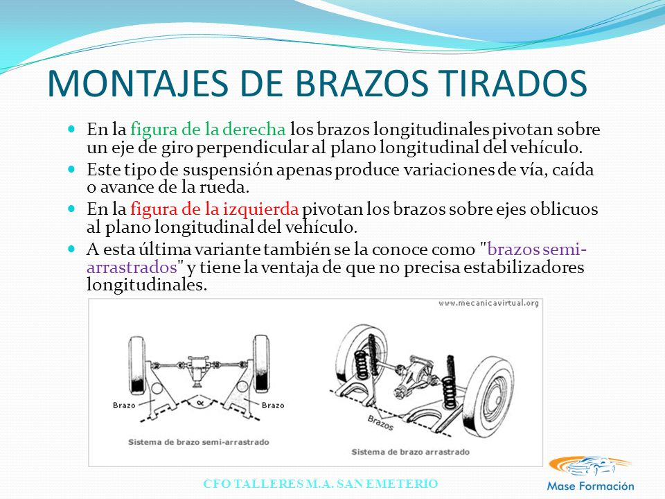 MONTAJES DE BRAZOS TIRADOS