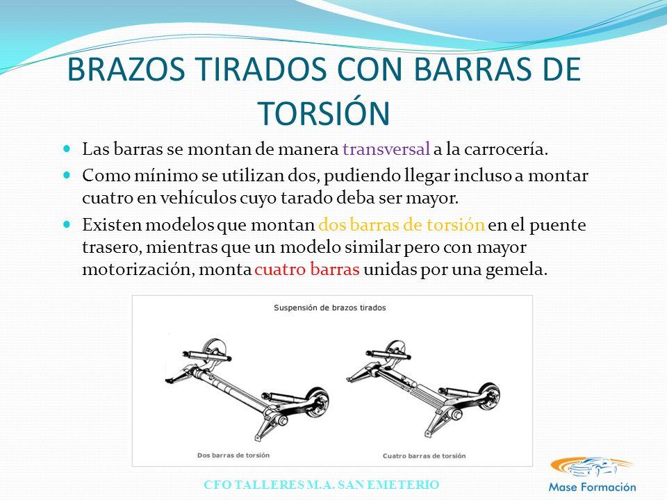 BRAZOS TIRADOS CON BARRAS DE TORSIÓN