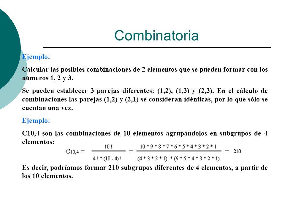 Combinatoria Ejemplo: