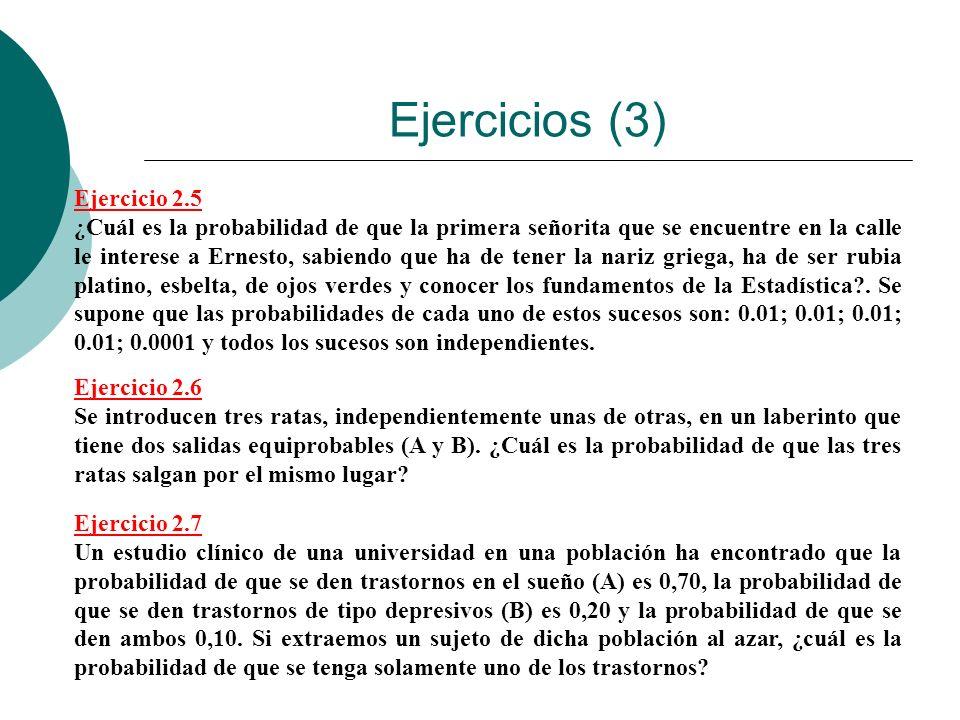 Ejercicios (3) Ejercicio 2.5