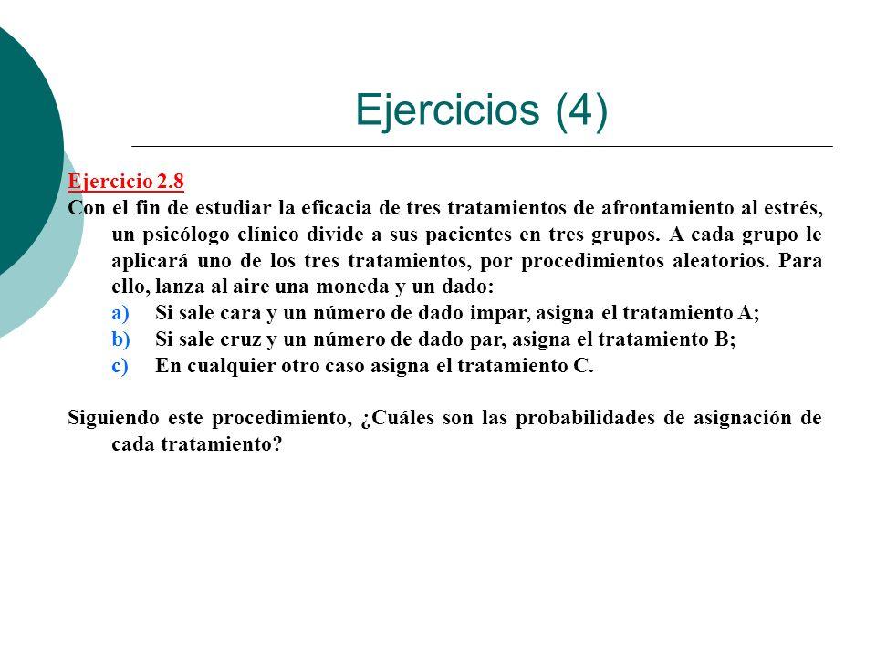 Ejercicios (4) Ejercicio 2.8