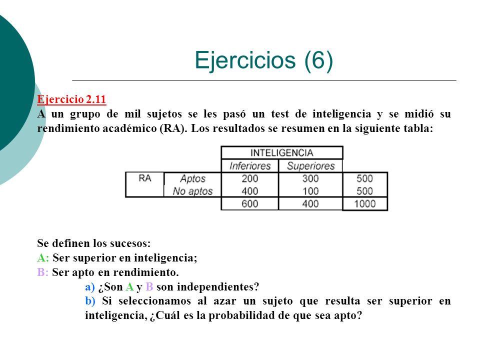 Ejercicios (6) Ejercicio 2.11