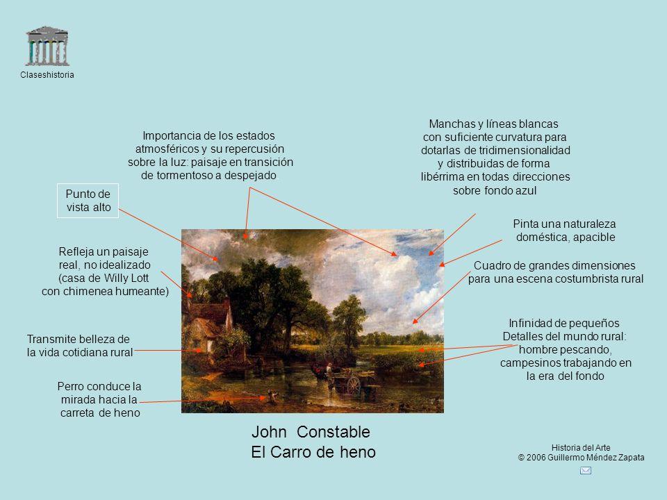 John Constable El Carro de heno Manchas y líneas blancas