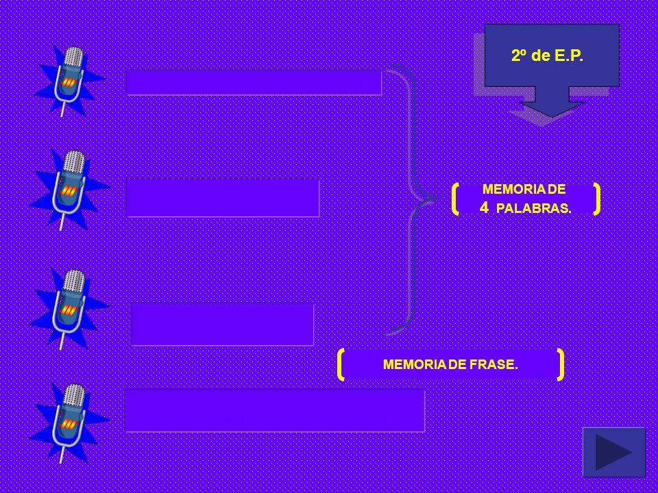 2º de E.P. 4 PALABRAS. GRIFO - OJO - PRADO - YOGURT