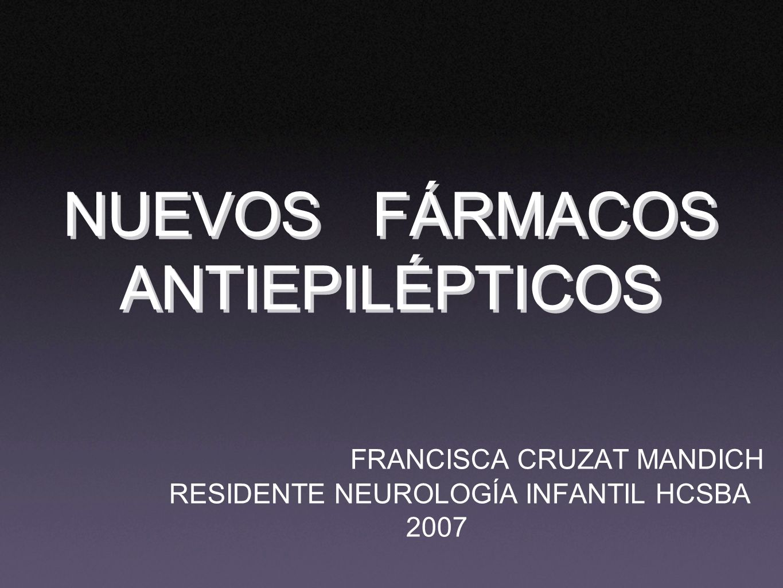 NUEVOS FÁRMACOS ANTIEPILÉPTICOS