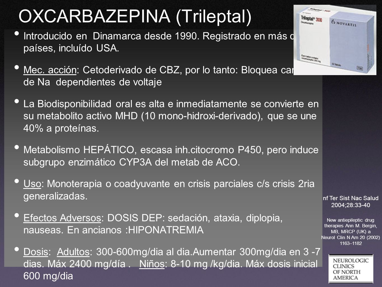 OXCARBAZEPINA (Trileptal)