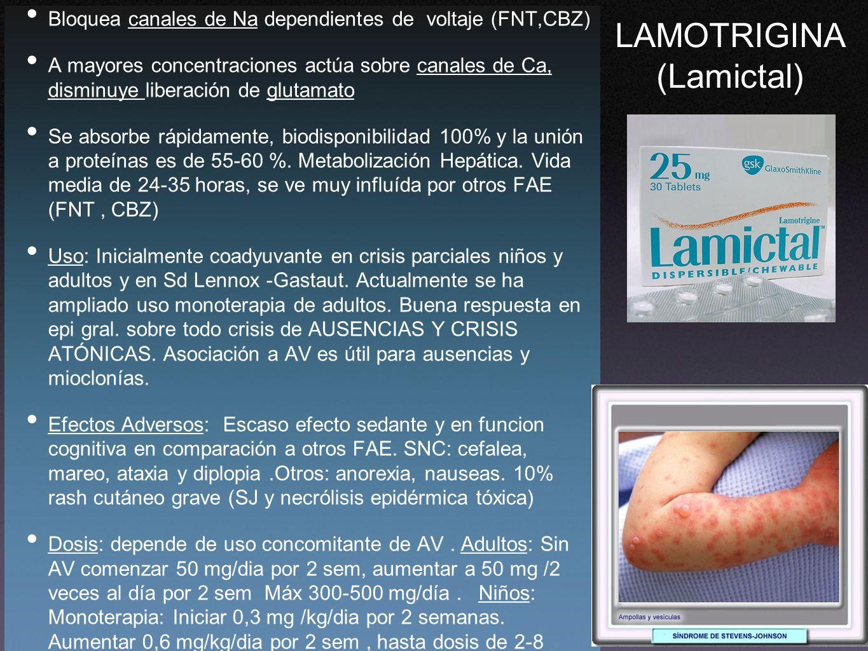 LAMOTRIGINA (Lamictal)