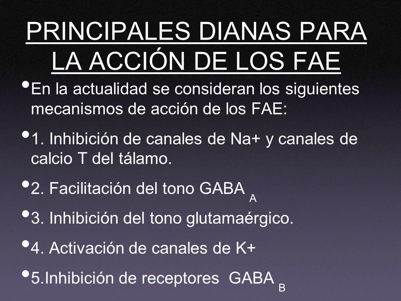 PRINCIPALES DIANAS PARA LA ACCIÓN DE LOS FAE