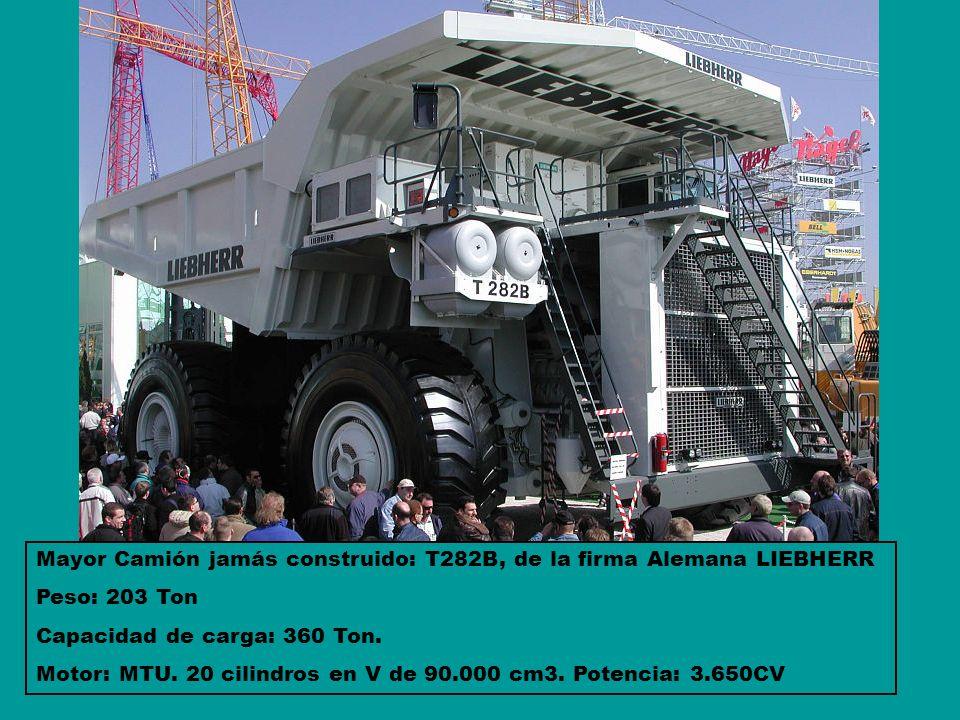Mayor Camión jamás construido: T282B, de la firma Alemana LIEBHERR