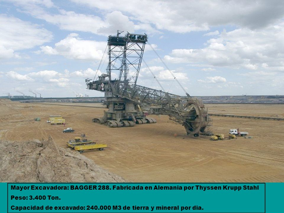 Mayor Excavadora: BAGGER 288