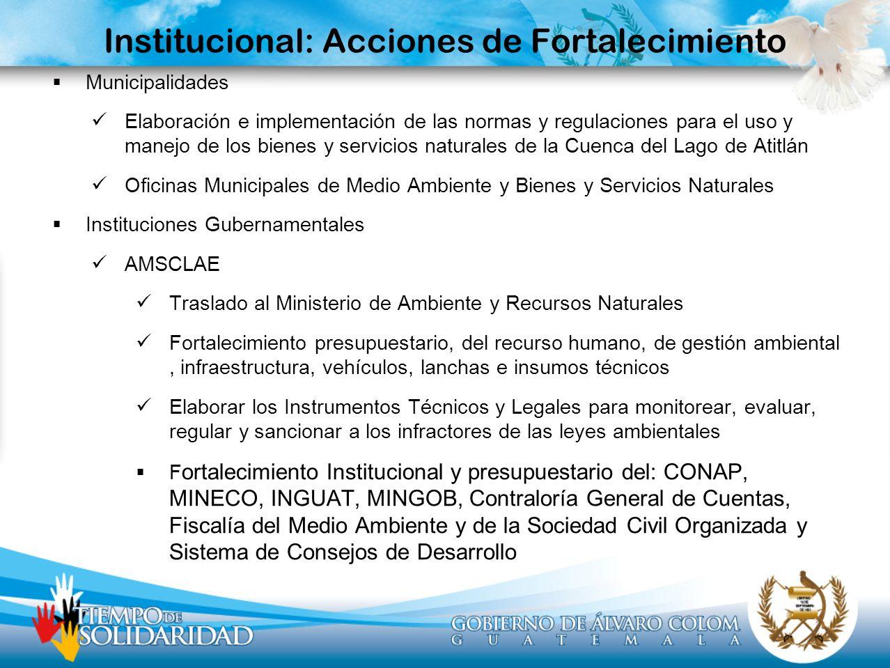 Institucional: Acciones de Fortalecimiento