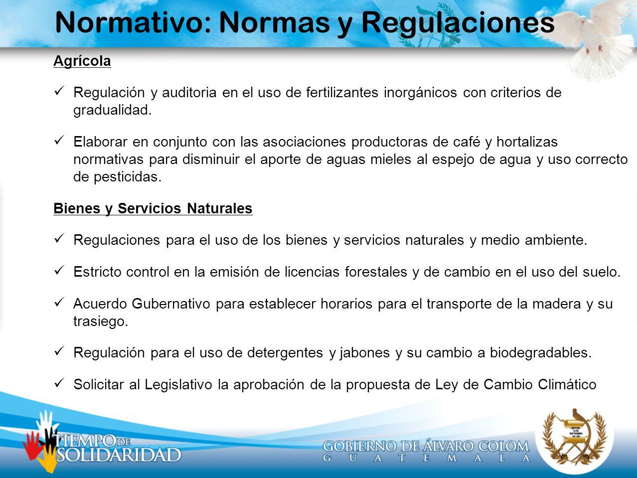 Normativo: Normas y Regulaciones