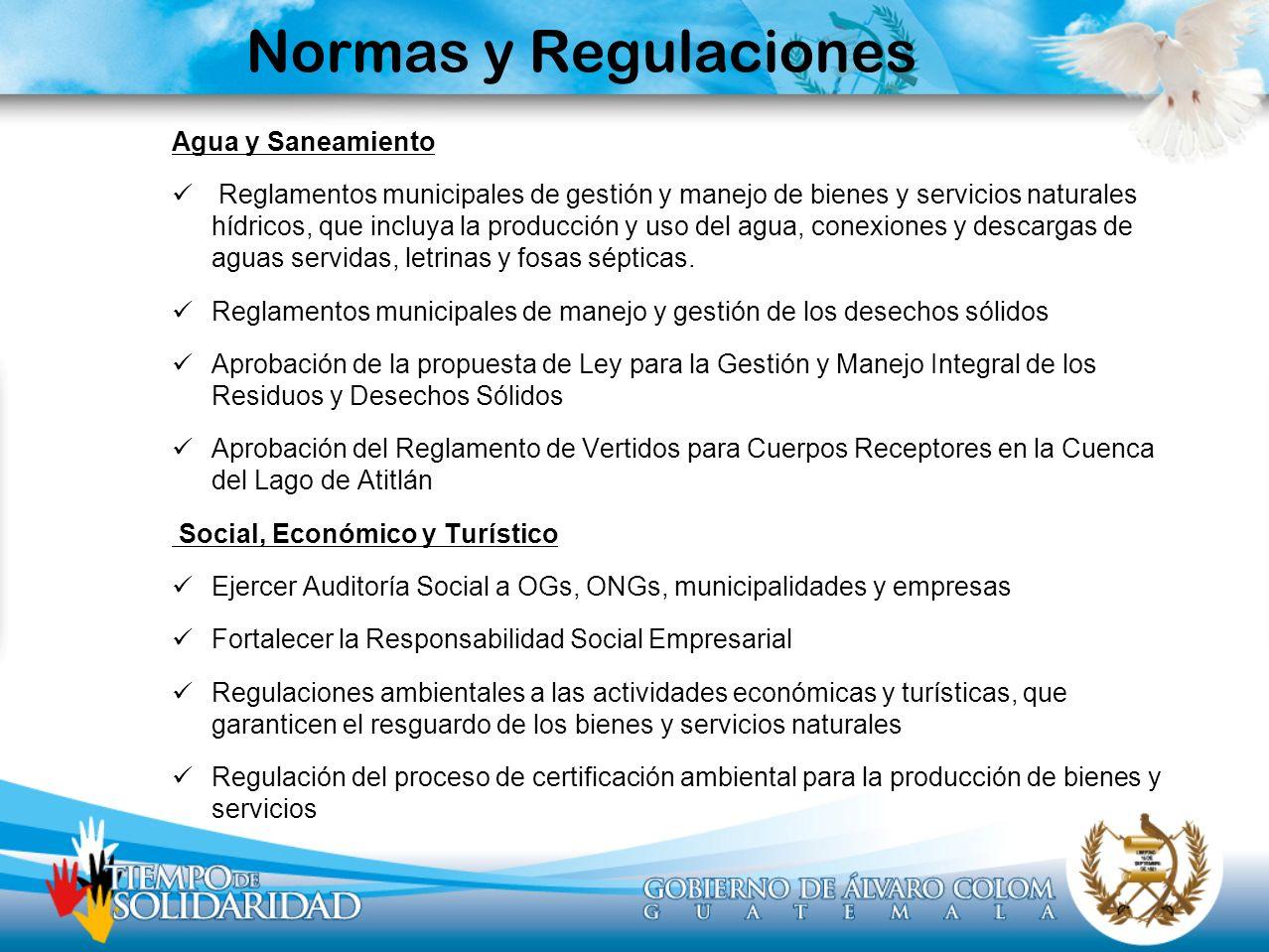 Normas y Regulaciones Agua y Saneamiento