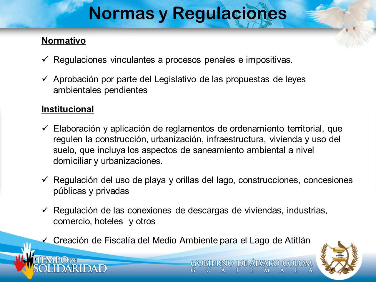 Normas y Regulaciones Normativo