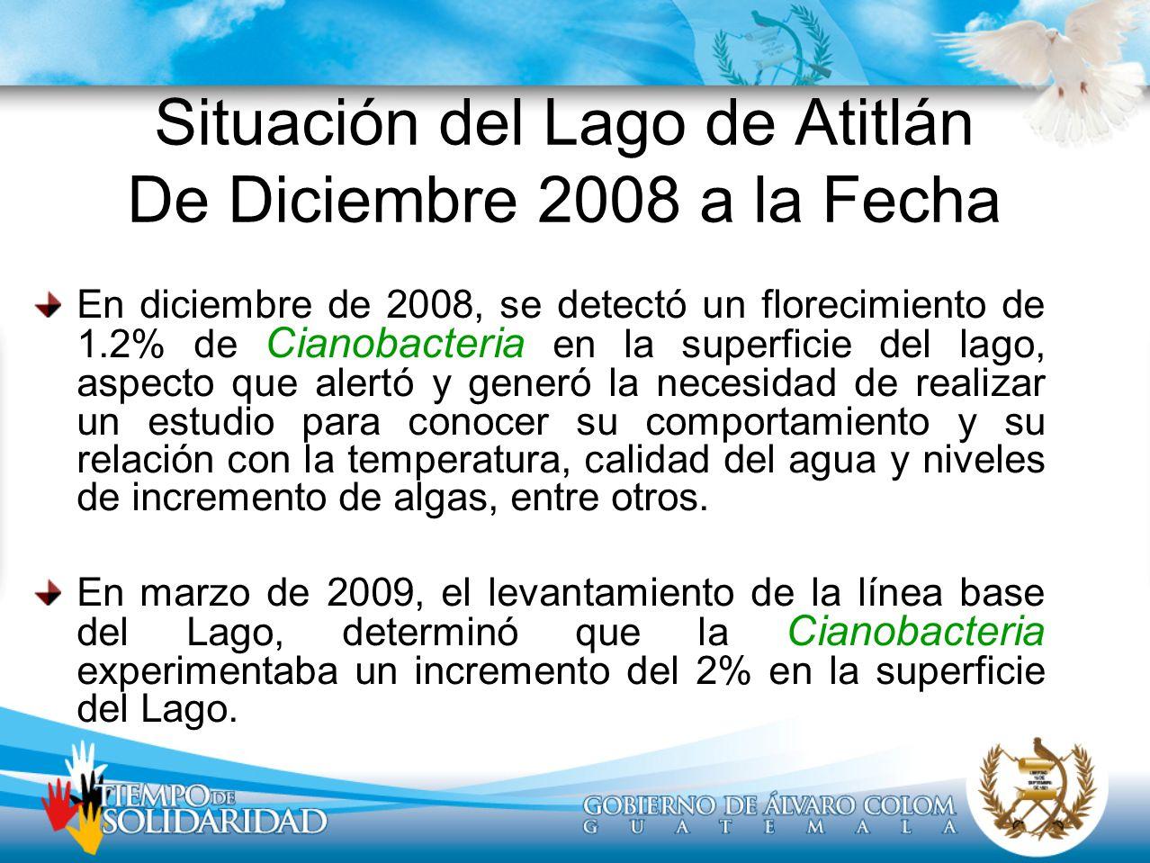 Situación del Lago de Atitlán De Diciembre 2008 a la Fecha