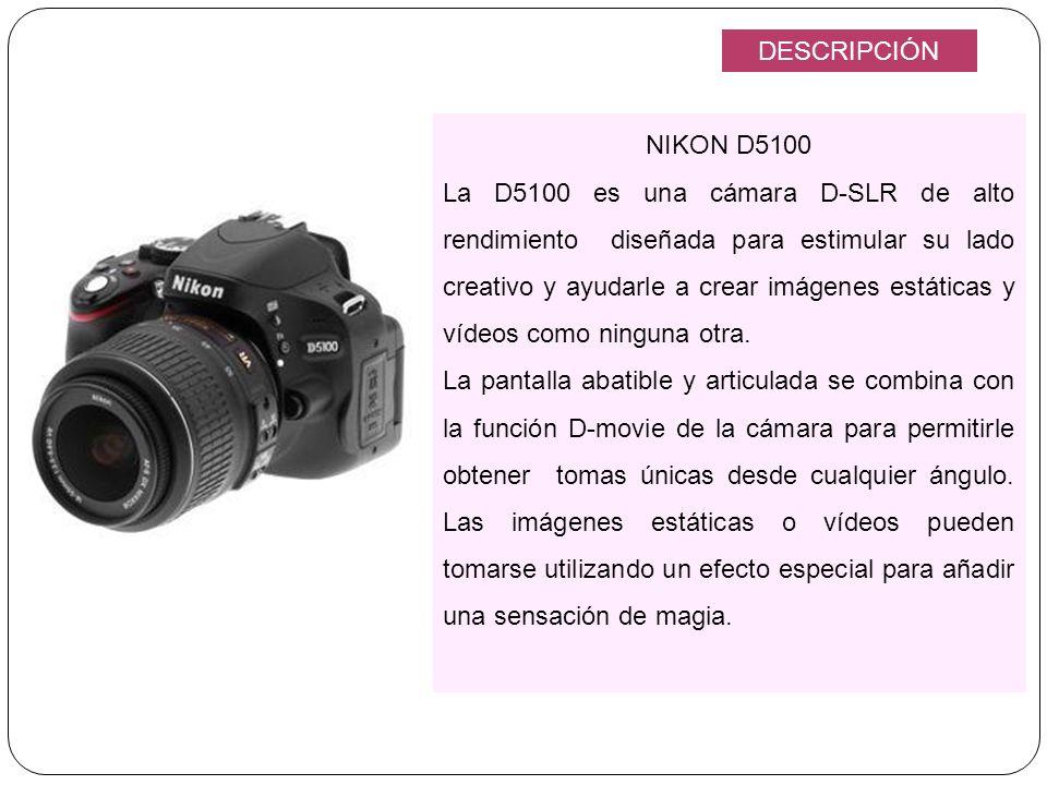DESCRIPCIÓN NIKON D5100.