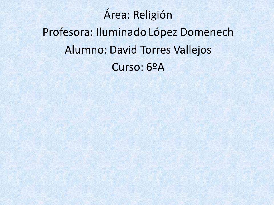 Profesora: Iluminado López Domenech Alumno: David Torres Vallejos