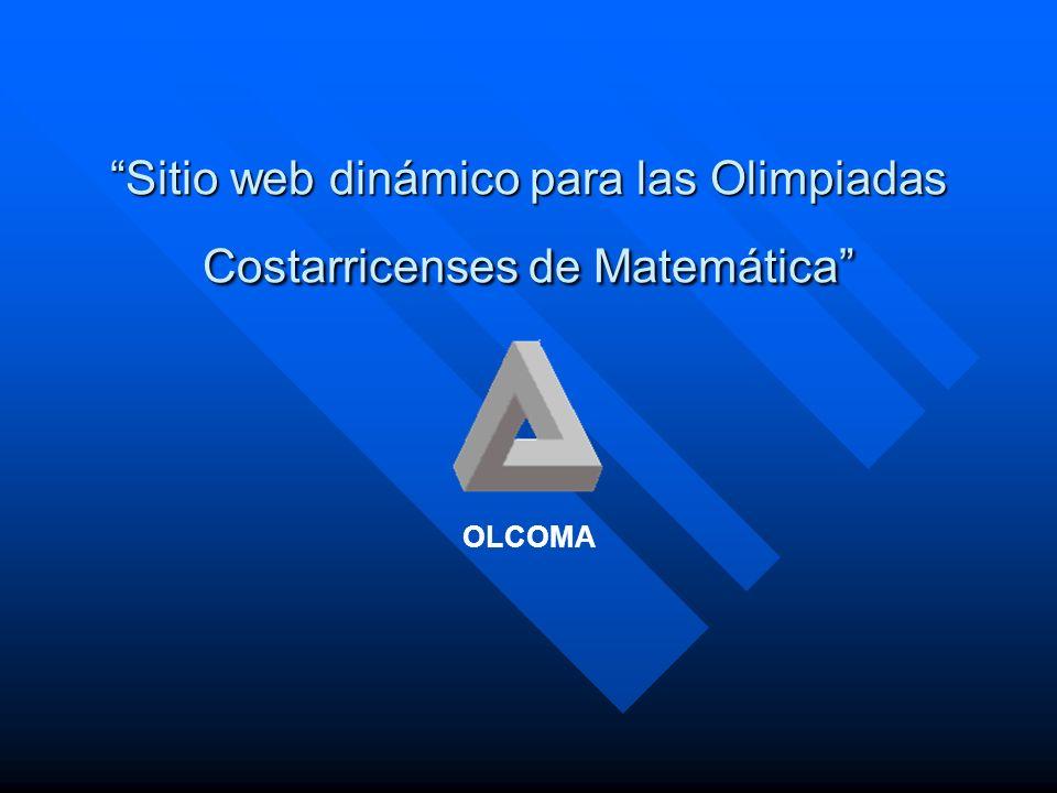 Sitio web dinámico para las Olimpiadas Costarricenses de Matemática