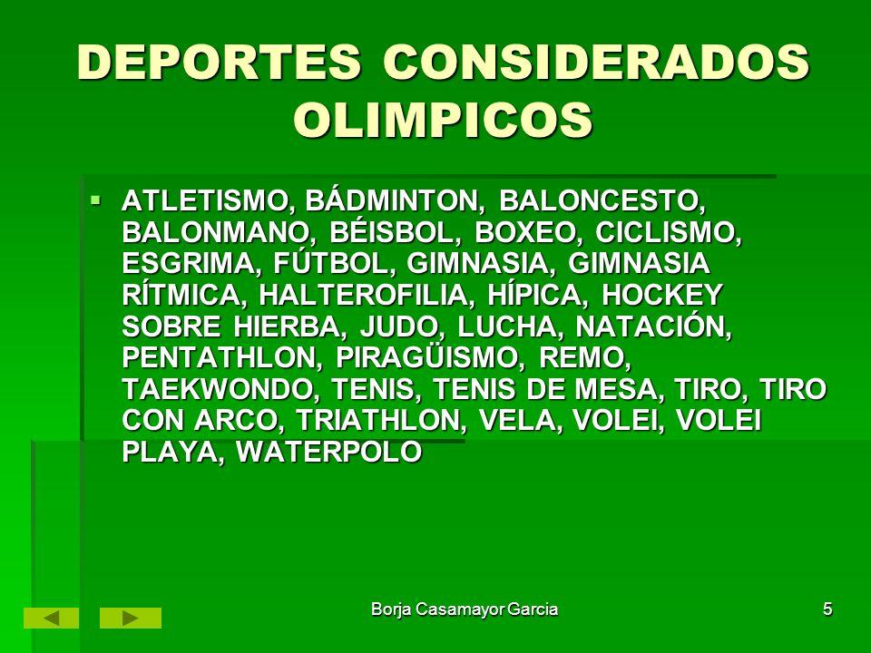 DEPORTES CONSIDERADOS OLIMPICOS