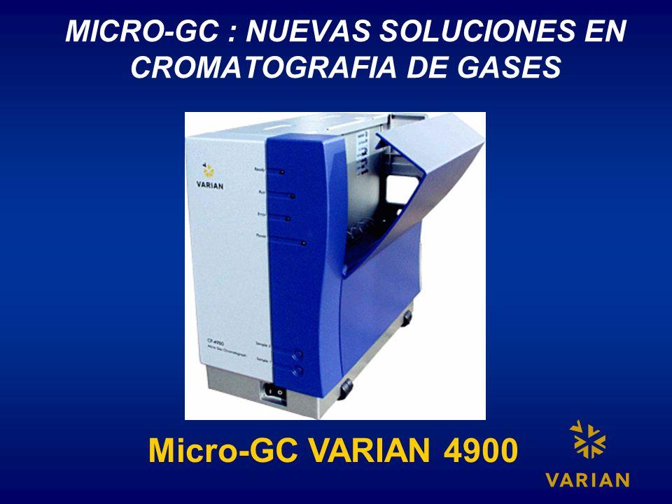 MICRO-GC : NUEVAS SOLUCIONES EN CROMATOGRAFIA DE GASES