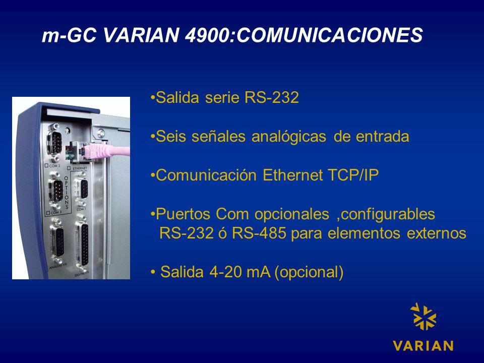 m-GC VARIAN 4900:COMUNICACIONES