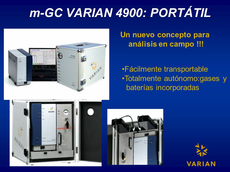 m-GC VARIAN 4900: PORTÁTIL Un nuevo concepto para