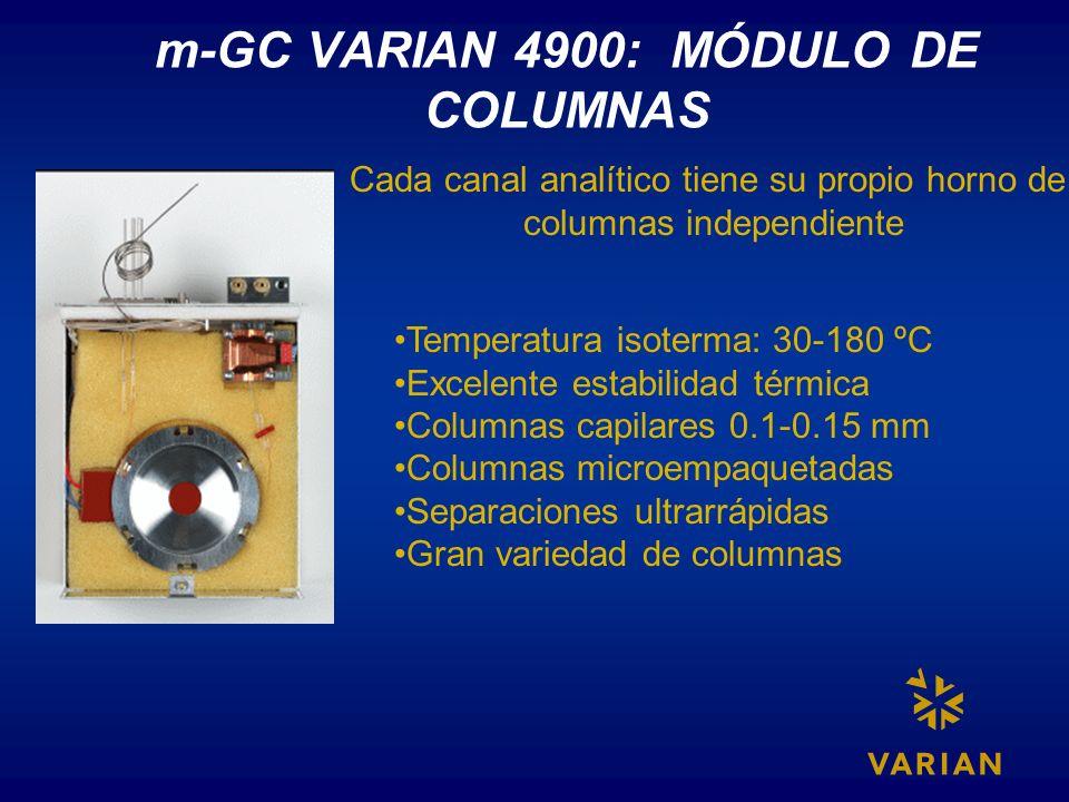 m-GC VARIAN 4900: MÓDULO DE COLUMNAS