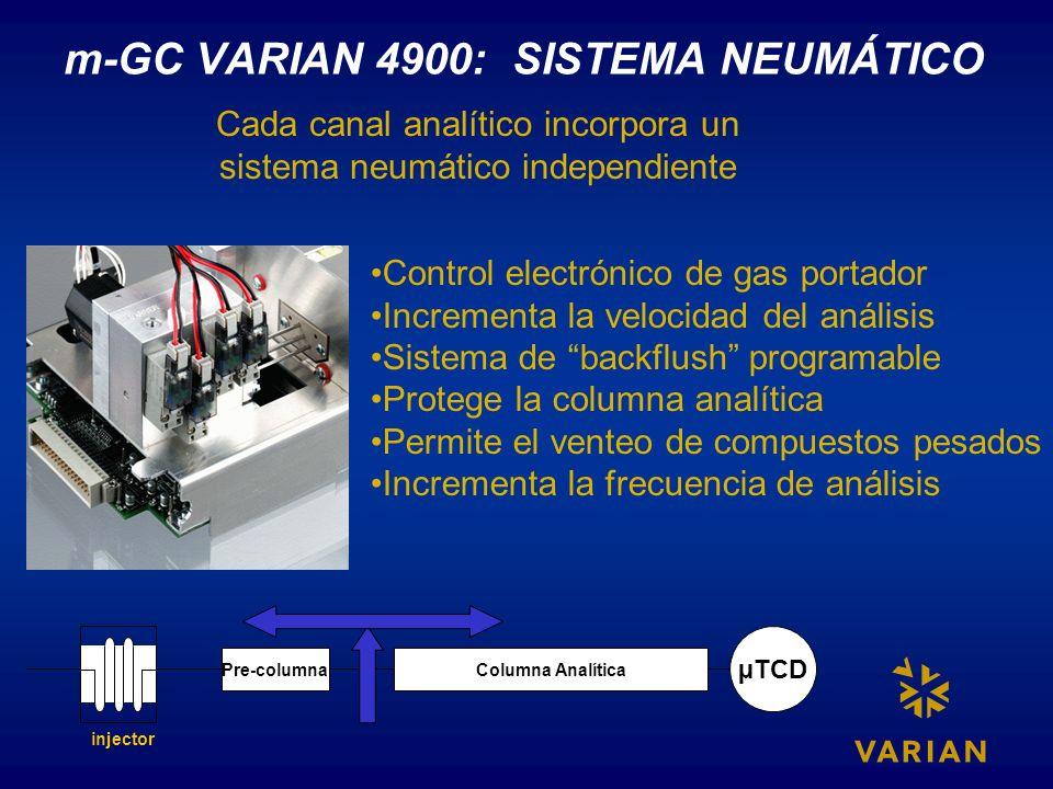 m-GC VARIAN 4900: SISTEMA NEUMÁTICO