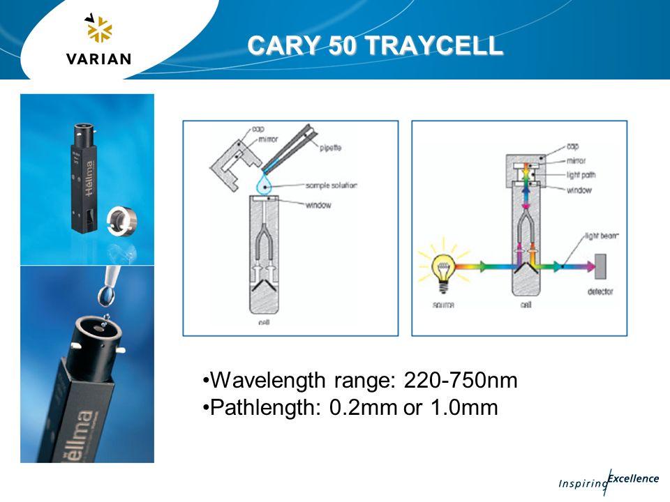 CARY 50 TRAYCELL Wavelength range: 220-750nm