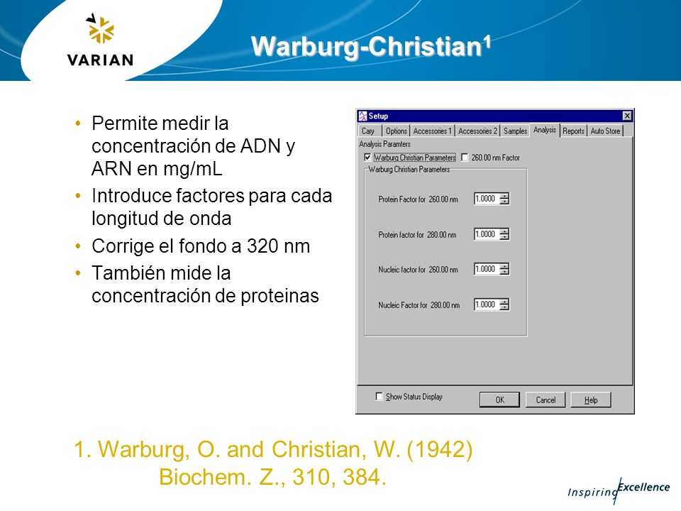 1. Warburg, O. and Christian, W. (1942) Biochem. Z., 310, 384.