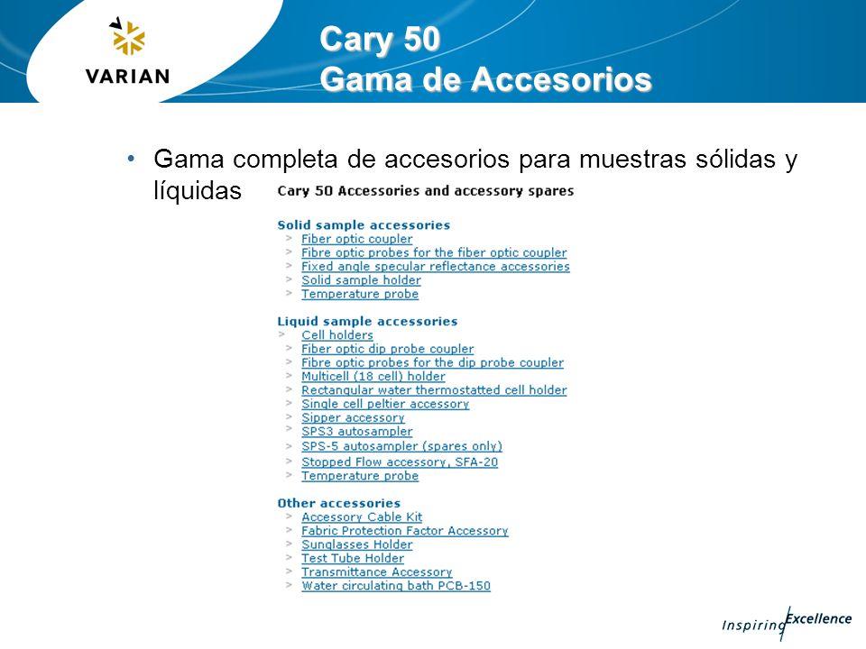Cary 50 Gama de Accesorios