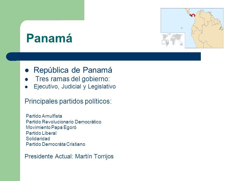 Panamá República de Panamá Tres ramas del gobierno: