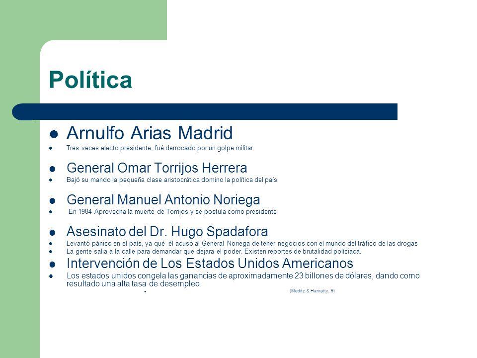 Política Arnulfo Arias Madrid General Omar Torrijos Herrera