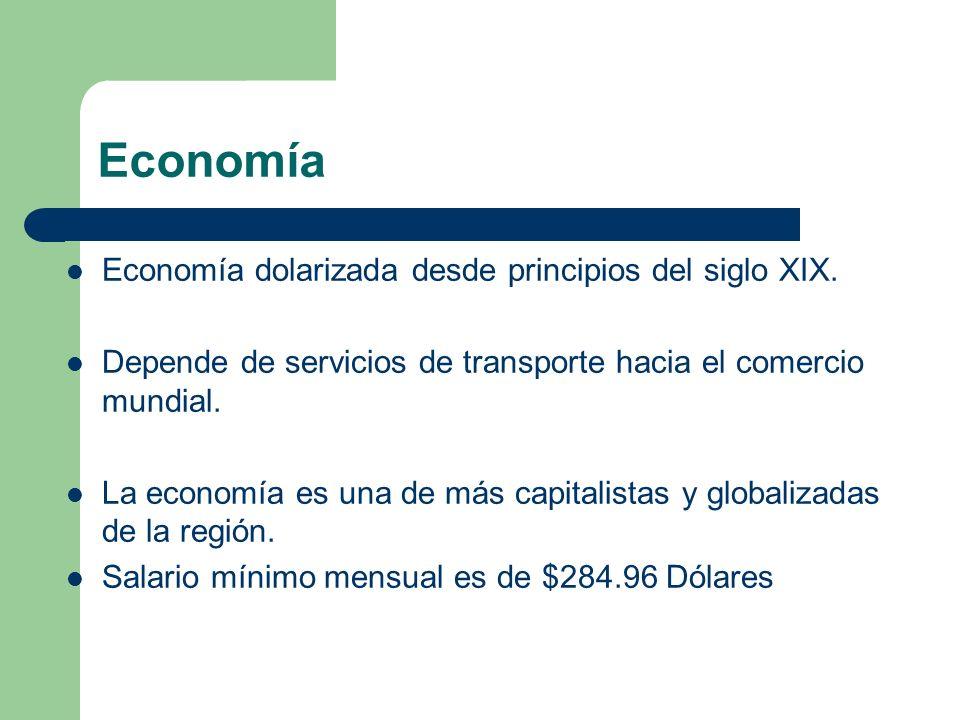 Economía Economía dolarizada desde principios del siglo XIX.
