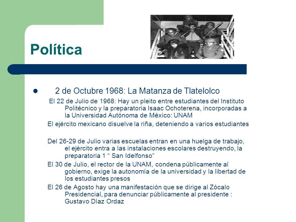 Política 2 de Octubre 1968: La Matanza de Tlatelolco