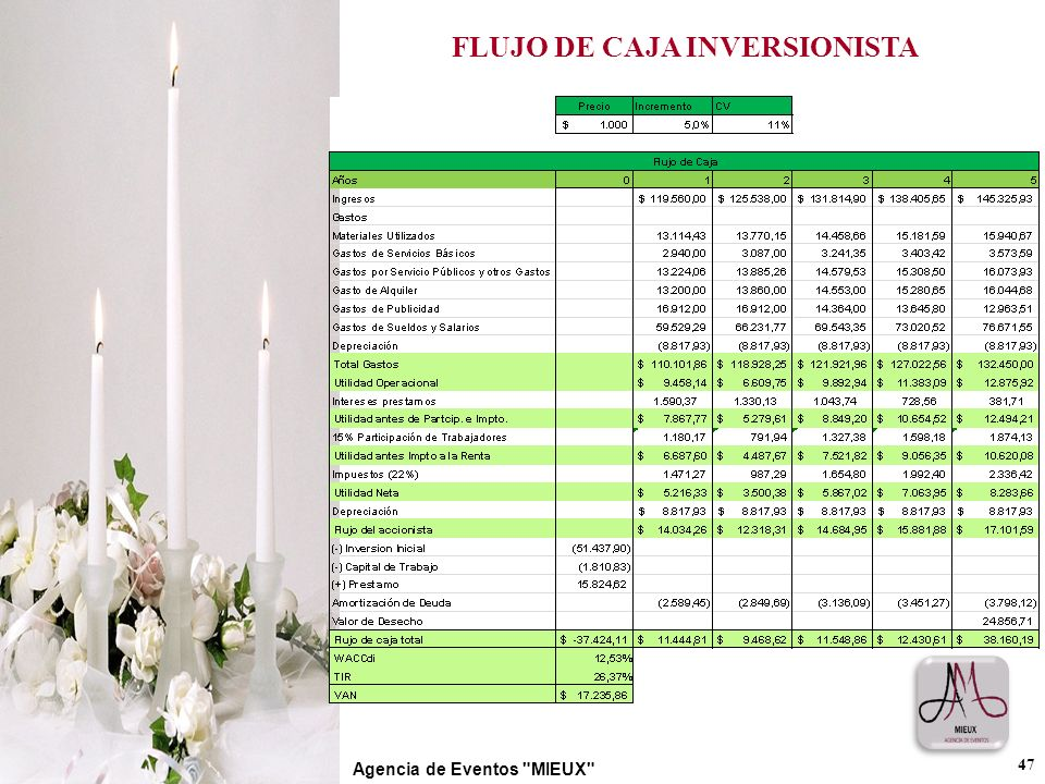 FLUJO DE CAJA INVERSIONISTA