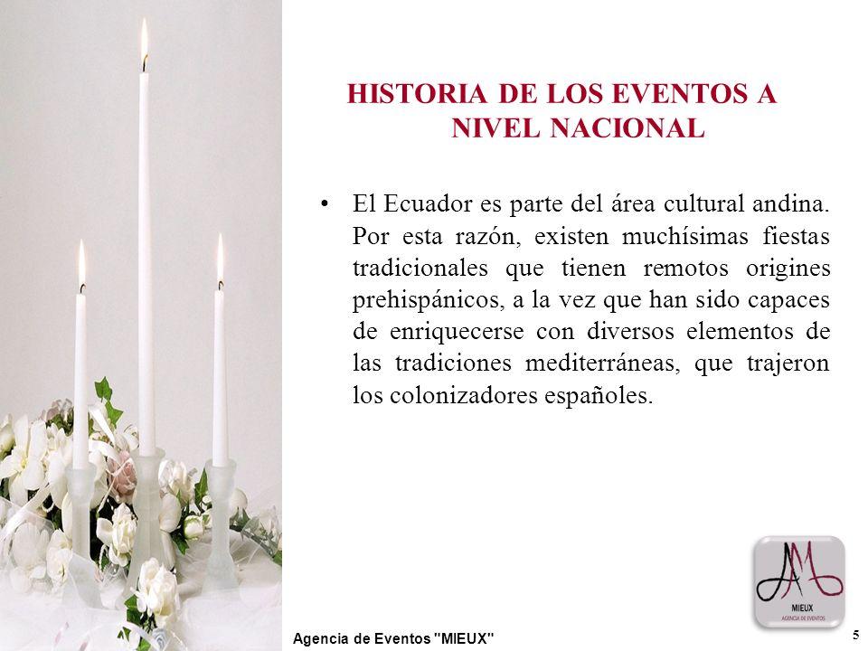 HISTORIA DE LOS EVENTOS A NIVEL NACIONAL