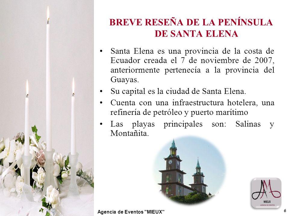 BREVE RESEÑA DE LA PENÍNSULA DE SANTA ELENA
