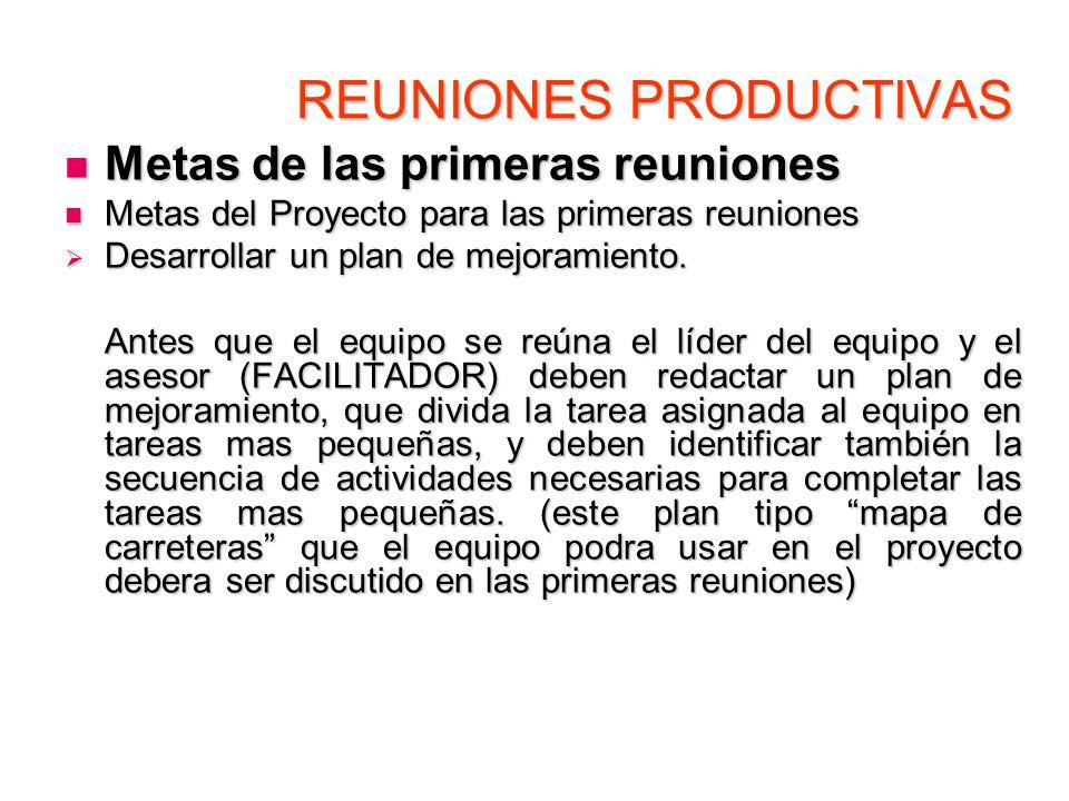 REUNIONES PRODUCTIVAS