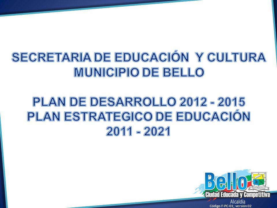 SECRETARIA DE EDUCACIÓN Y CULTURA PLAN ESTRATEGICO DE EDUCACIÓN