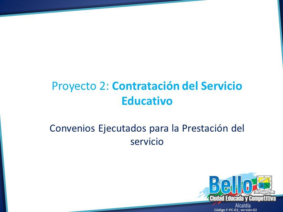 Proyecto 2: Contratación del Servicio Educativo
