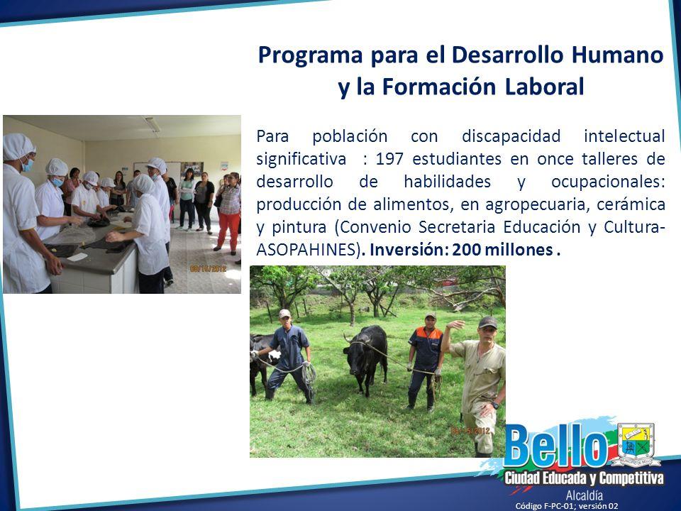 Programa para el Desarrollo Humano y la Formación Laboral
