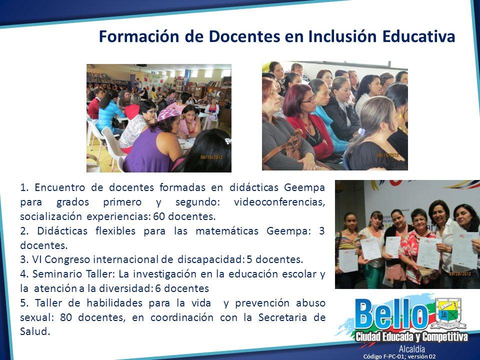 Formación de Docentes en Inclusión Educativa