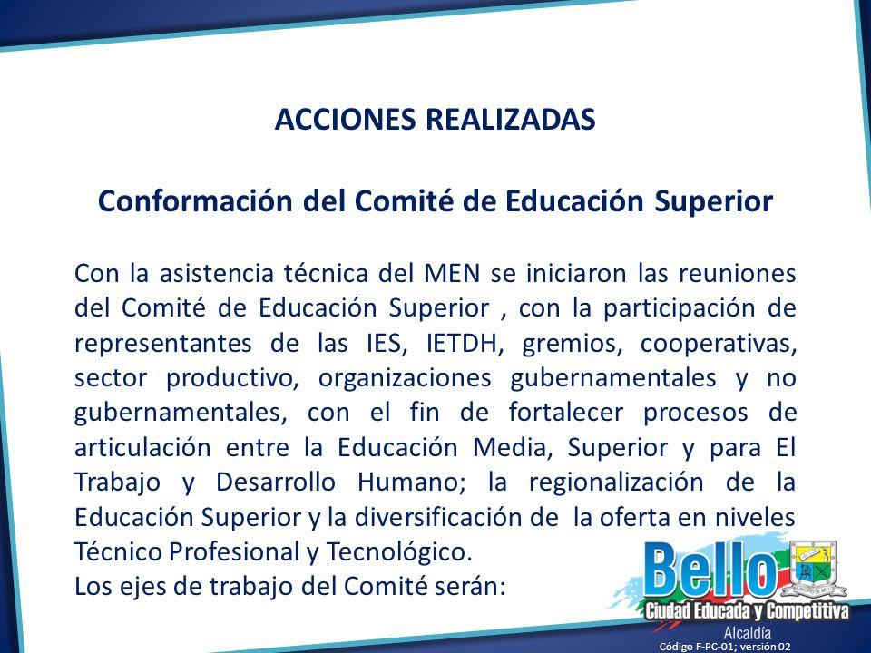Conformación del Comité de Educación Superior