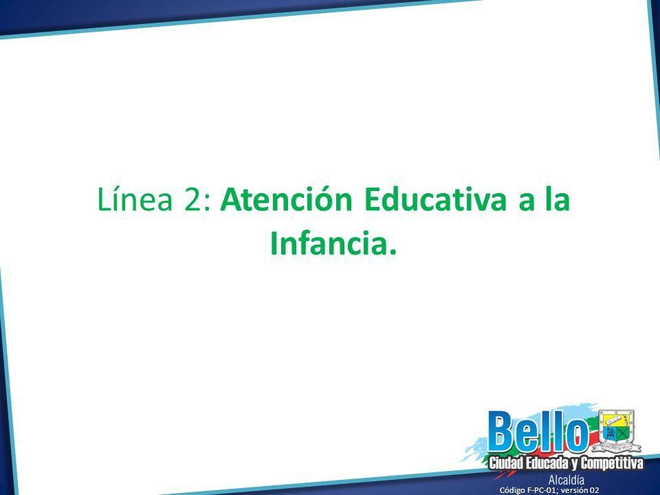 Línea 2: Atención Educativa a la Infancia.