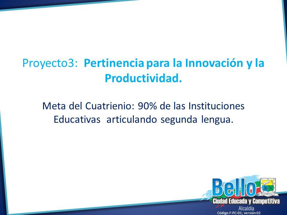 Proyecto3: Pertinencia para la Innovación y la Productividad.