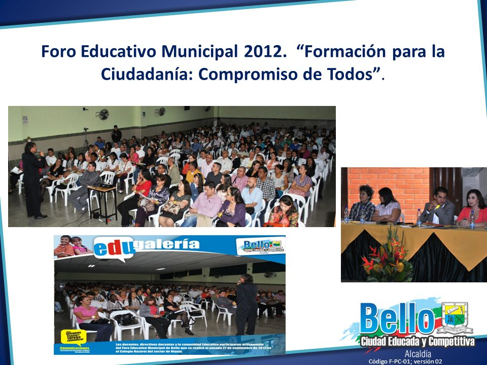 Foro Educativo Municipal 2012