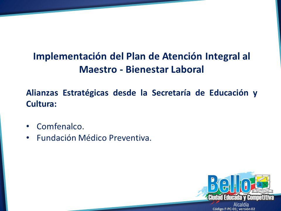 Implementación del Plan de Atención Integral al Maestro - Bienestar Laboral