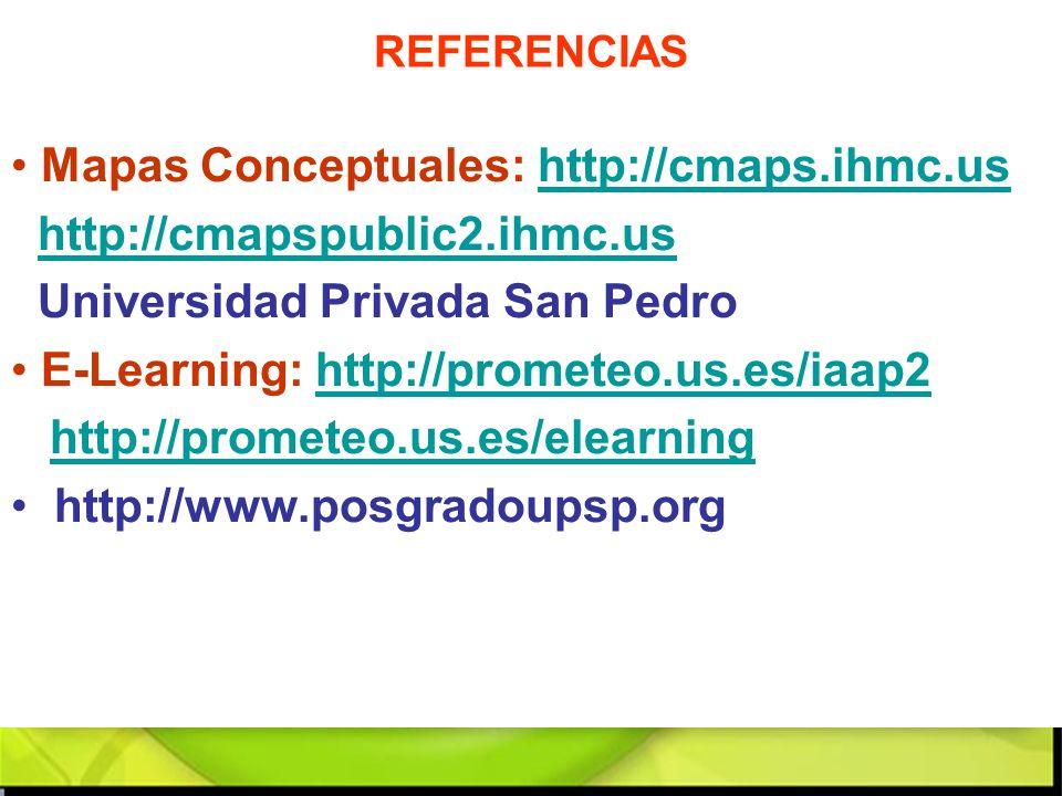Mapas Conceptuales: http://cmaps.ihmc.us http://cmapspublic2.ihmc.us