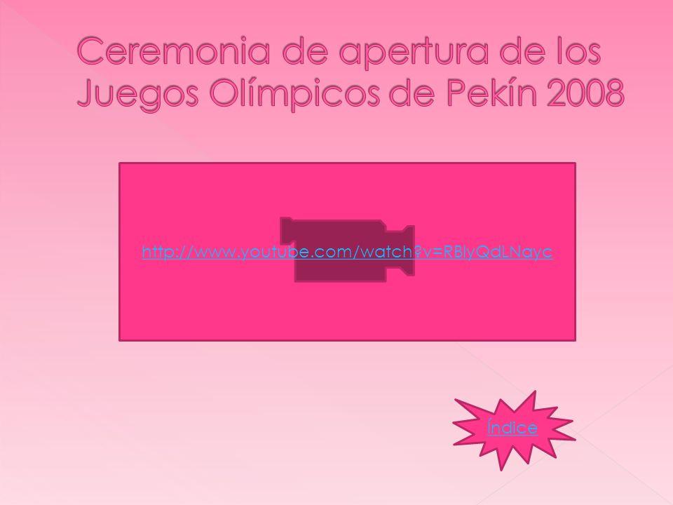 Ceremonia de apertura de los Juegos Olímpicos de Pekín 2008